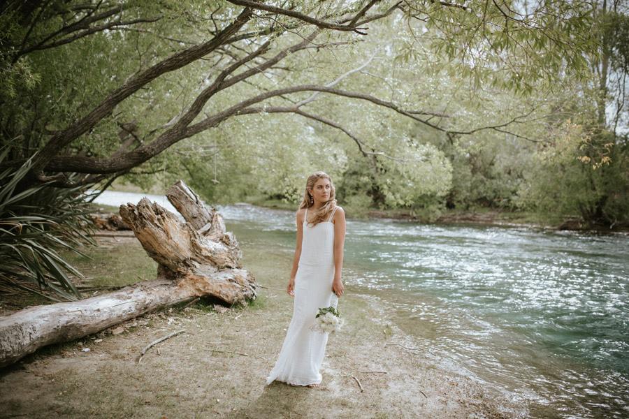 Kelsey looking gorgeous on her wedding day in Wanaka, New Zealand. Wanaka wedding photography by Alpine Image Company.