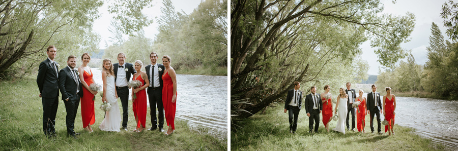 Lovely bridal party photos from Kelsey and Matt's Wanaka wedding day captured by Wanaka wedding photographers Alpine Image Company.