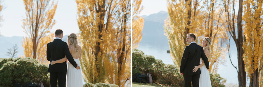 Lovely wedding moments from this beautiful autumn wedding in Wanaka, captured by Alpine Image Company.