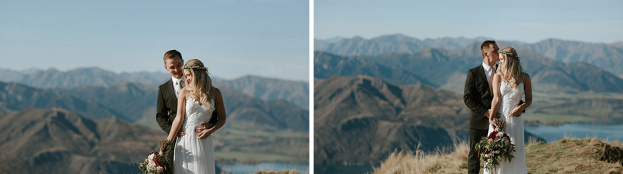 Beautiful wedding photos of Estelle and Stas on their Wanaka wedding day. Photographed by Wanaka wedding photographers, Alpine Image Company.