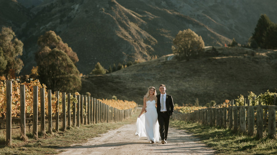 Rippon Vineyard is a stunning wedding venue and spot for wedding photos, as seen on Estelle and Stas' wedding day photographed by Alpine Image Company.