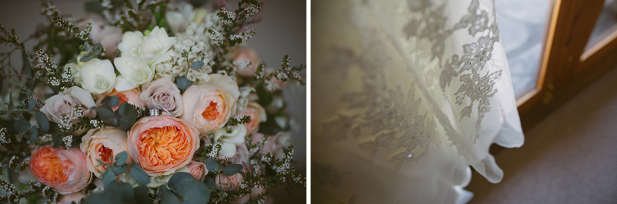 Beautiful wedding flowers and lace detail shots from this Queenstown wedding captured by Wanaka wedding photographer Alpine Image Company.