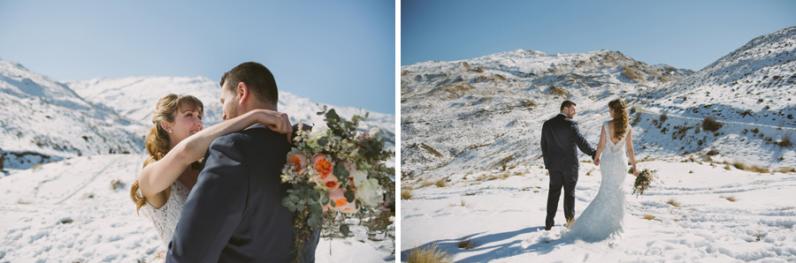 Wedding photo moments from Katie and Bernard's Queenstown wedding captured by Wanaka wedding photographer Alpine Image Company.