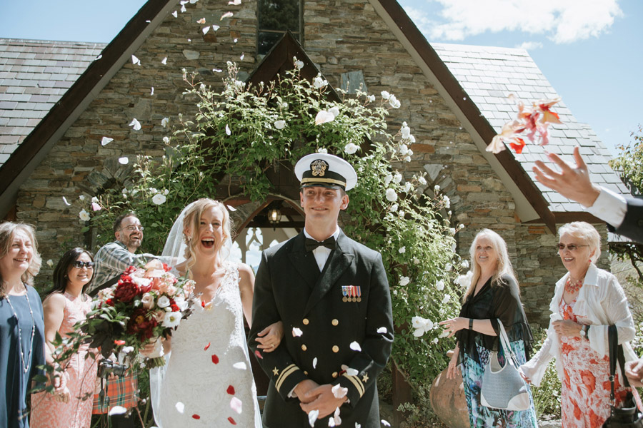 A stunning petal shower on your wedding day