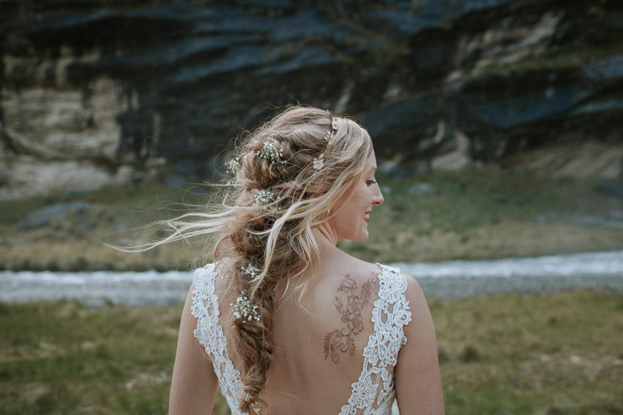 Boho hair on your wedding day