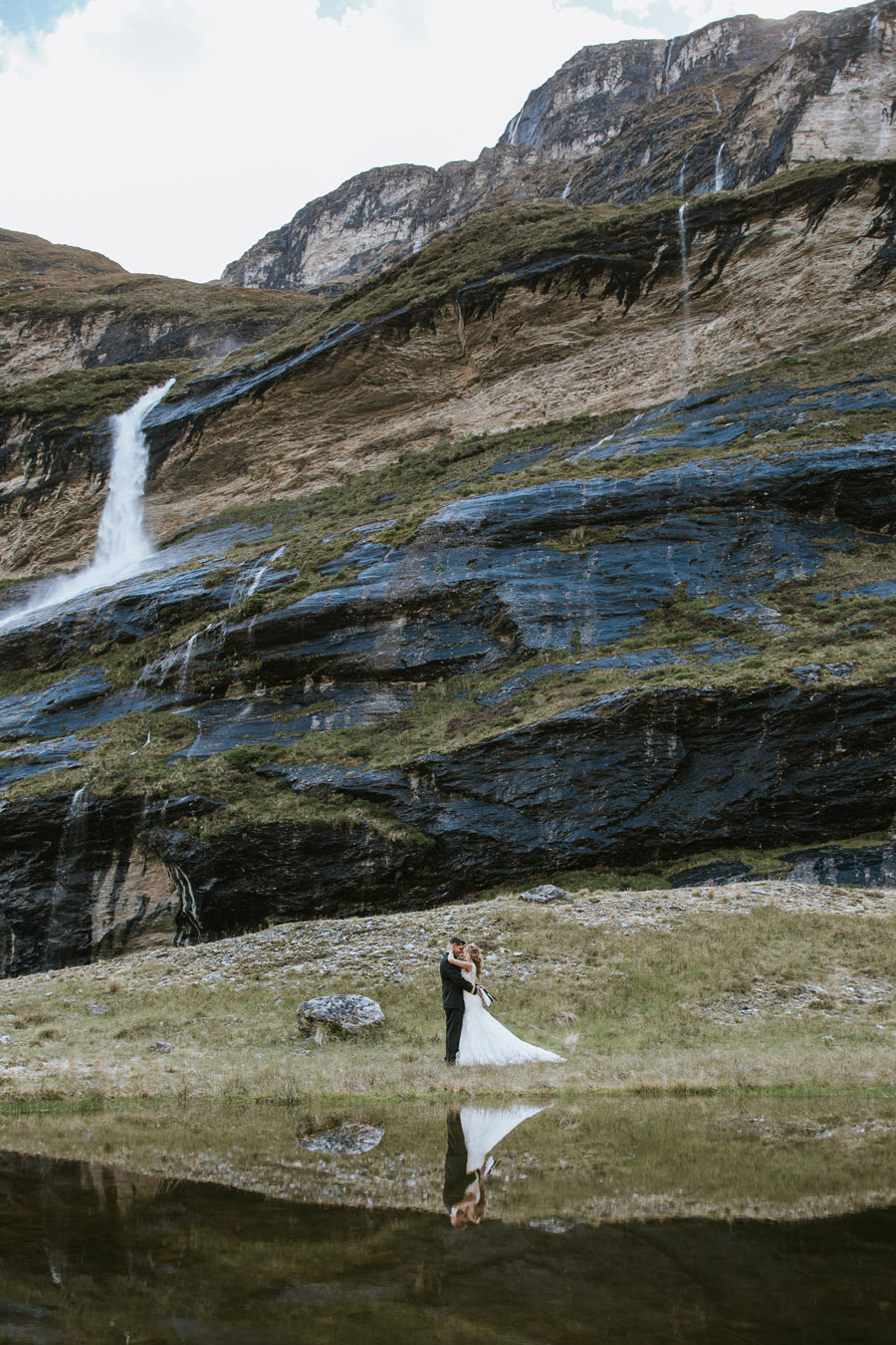 Reflections of love on your mountain wedding day