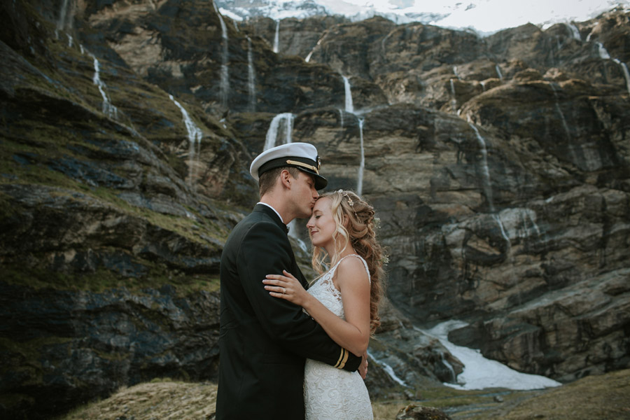 forehead kisses by the waterfalls