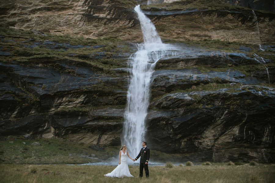 don't go chasing waterfalls, unless it's on your wedding day