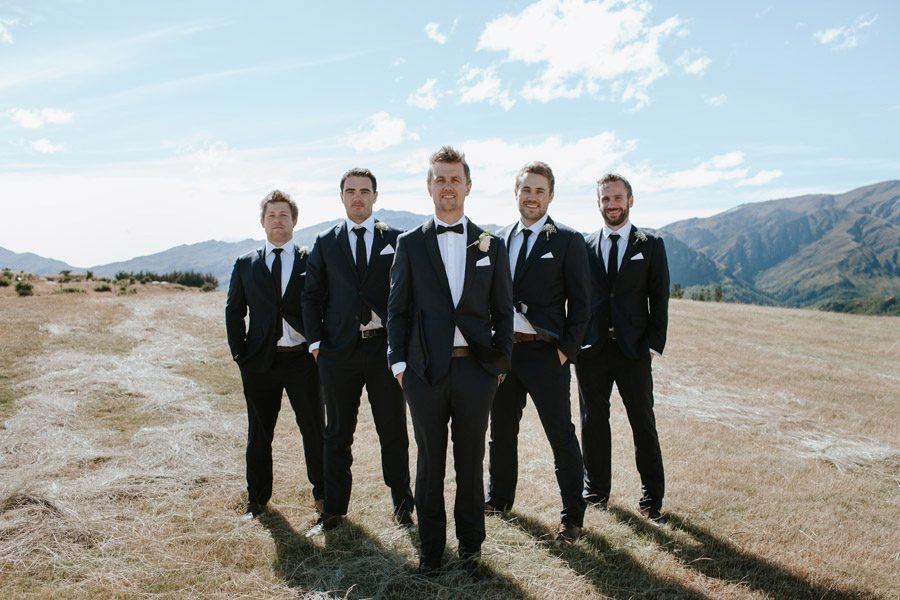 The lads looking sharp at Mt Soho Arrowtown