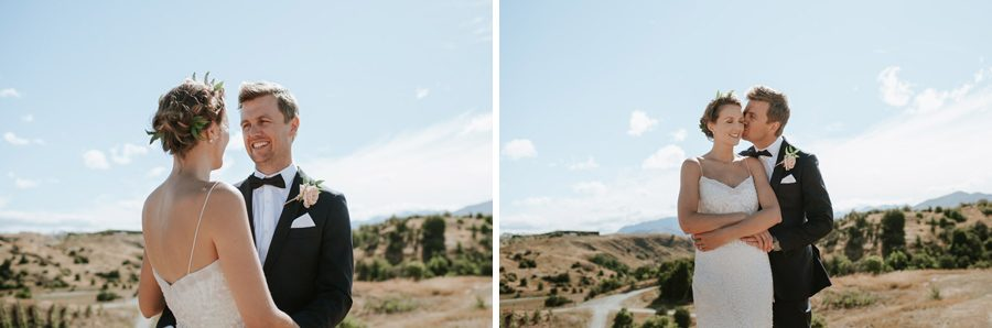 A stunning bride and groom at Mt Soho